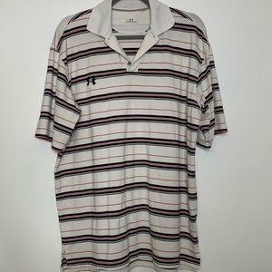Under Armour men's medium golf polo shirt stripes